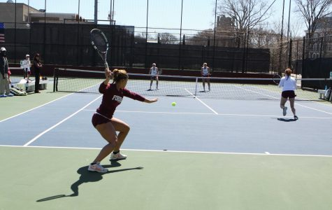 Women's Tennis Battles Through Weather