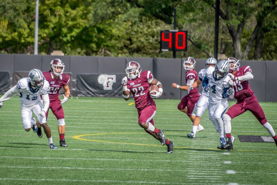 Chase+Edmonds+had+another+big+day+for+the+Rams.+%28The+Fordham+Ram%29