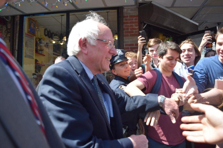 Bernie+Sanders+Visits+Arthur+Avenue