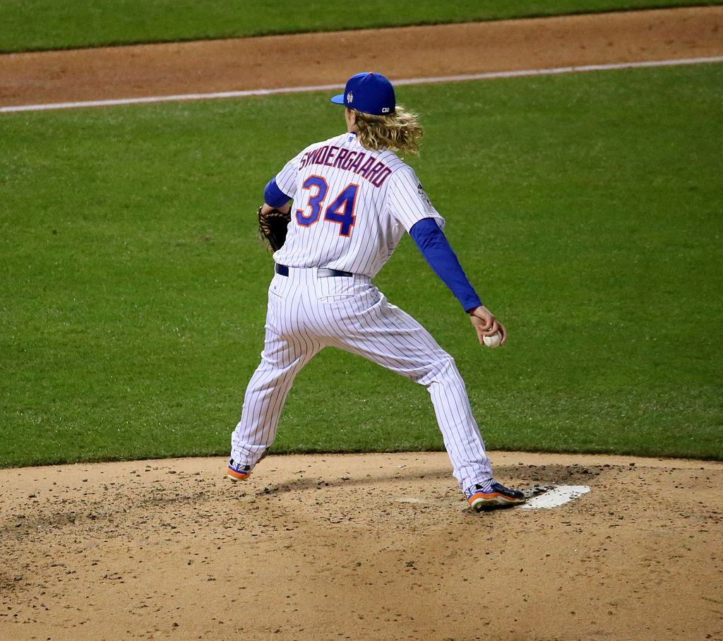 Starting pitcher Noah Syndergaard has been a major contributor for the Mets this season. (Courtesy of Wikimedia).