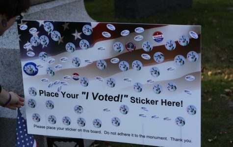 Voters Pay Respect to Suffragist