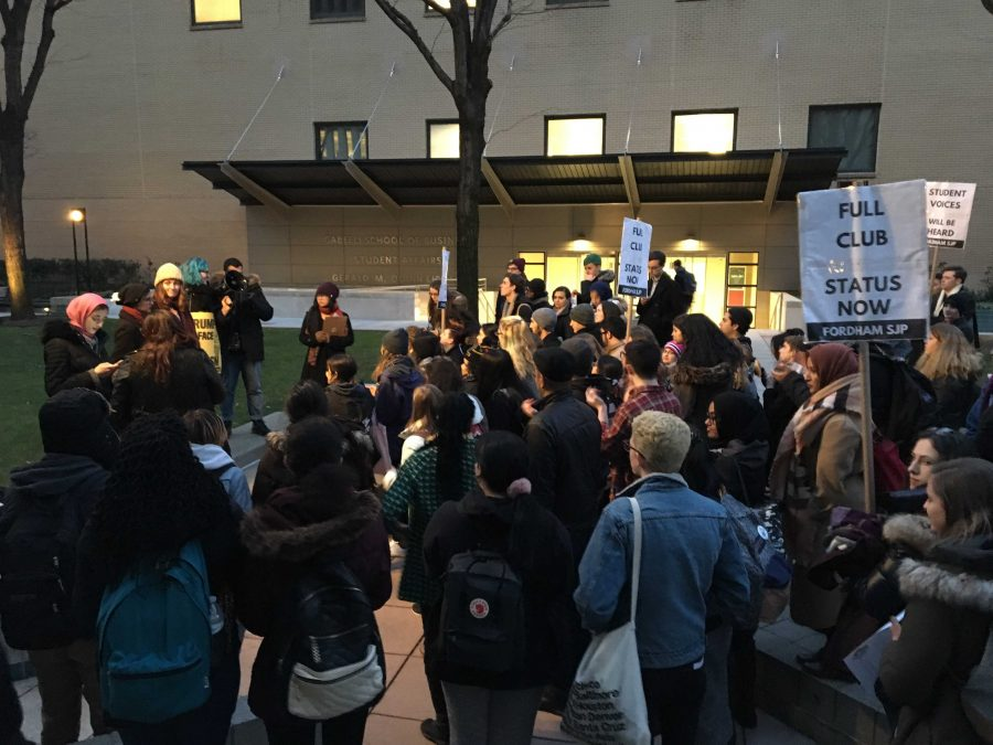 Protest+organizer+Sapphira+Lurie+will+engage+in+a+disciplinary+hearing+Wednesday%2C+Feb.+22.%2C+in+response+to+her+unauthorized+protest.+%28Victor+Ordonez+%2F+The+Fordham+Ram%29