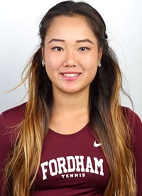 Mayu Sato was one of just two seniors on the successful Fordham women's tennis team (Courtesy of Fordham Athletics).