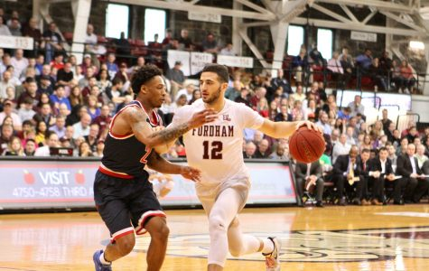 Joseph Chartouny filled the stat sheet with five points, six rebounds, seven assists, five steals and one block (Courtesy of Julia Comerford/The Fordham Ram).