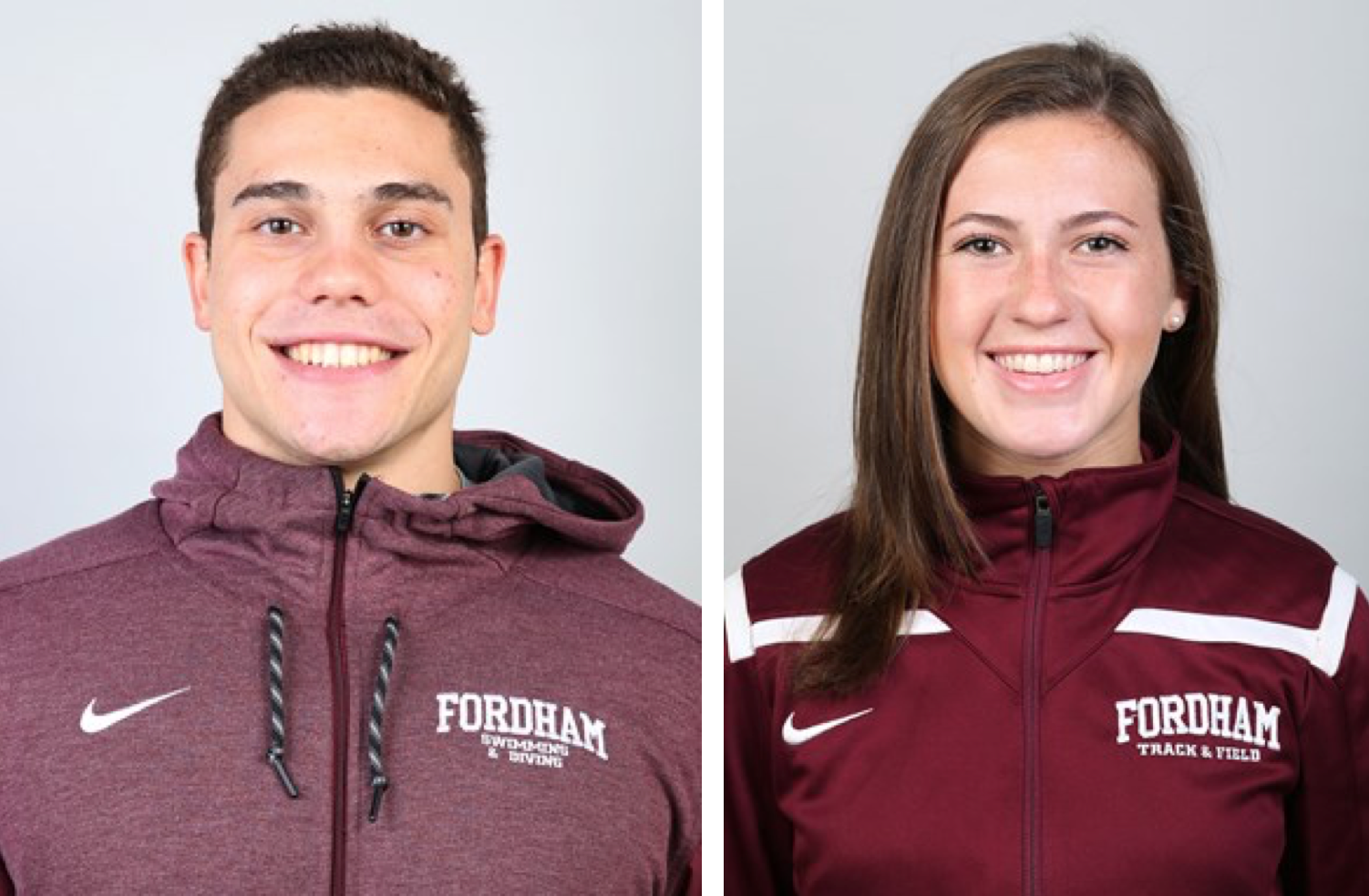 Fordham Athletes of the Week from January 24-30, 2018 (Courtesy of Fordham Athletics).