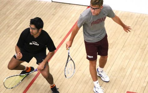 The Fordham Squash team defeated Bryant but lost to Bucknell this weekend. (Julia Comerford/The Fordham Ram)