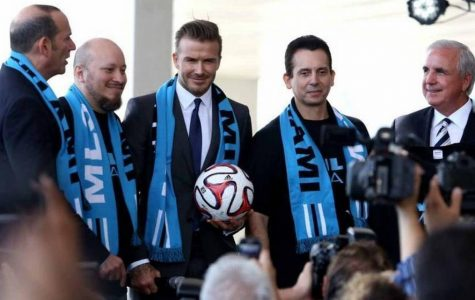 David Beckham's new MLS team elicited an enticing response from Messi (Courtesy of Twitter).