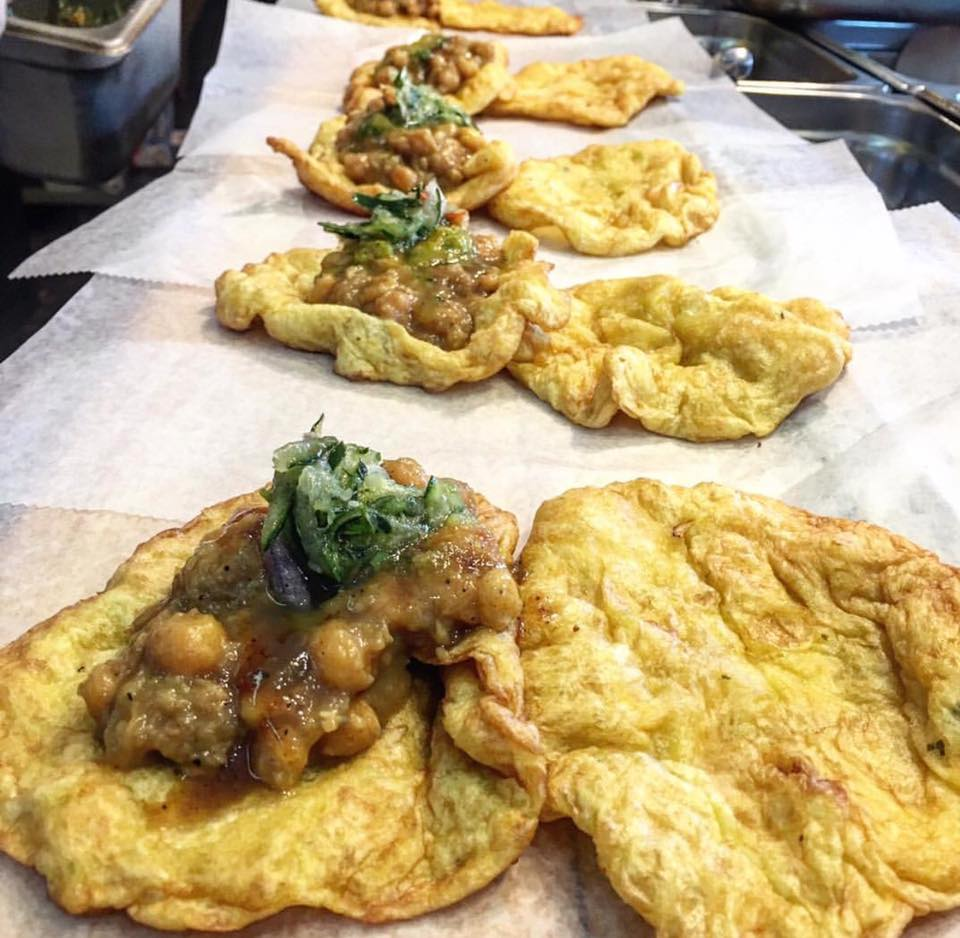 A sampling of doubles at Ali's Trinidad Roti Shop, which serves a variety of Caribbean dishes (Courtesy of Facebook).