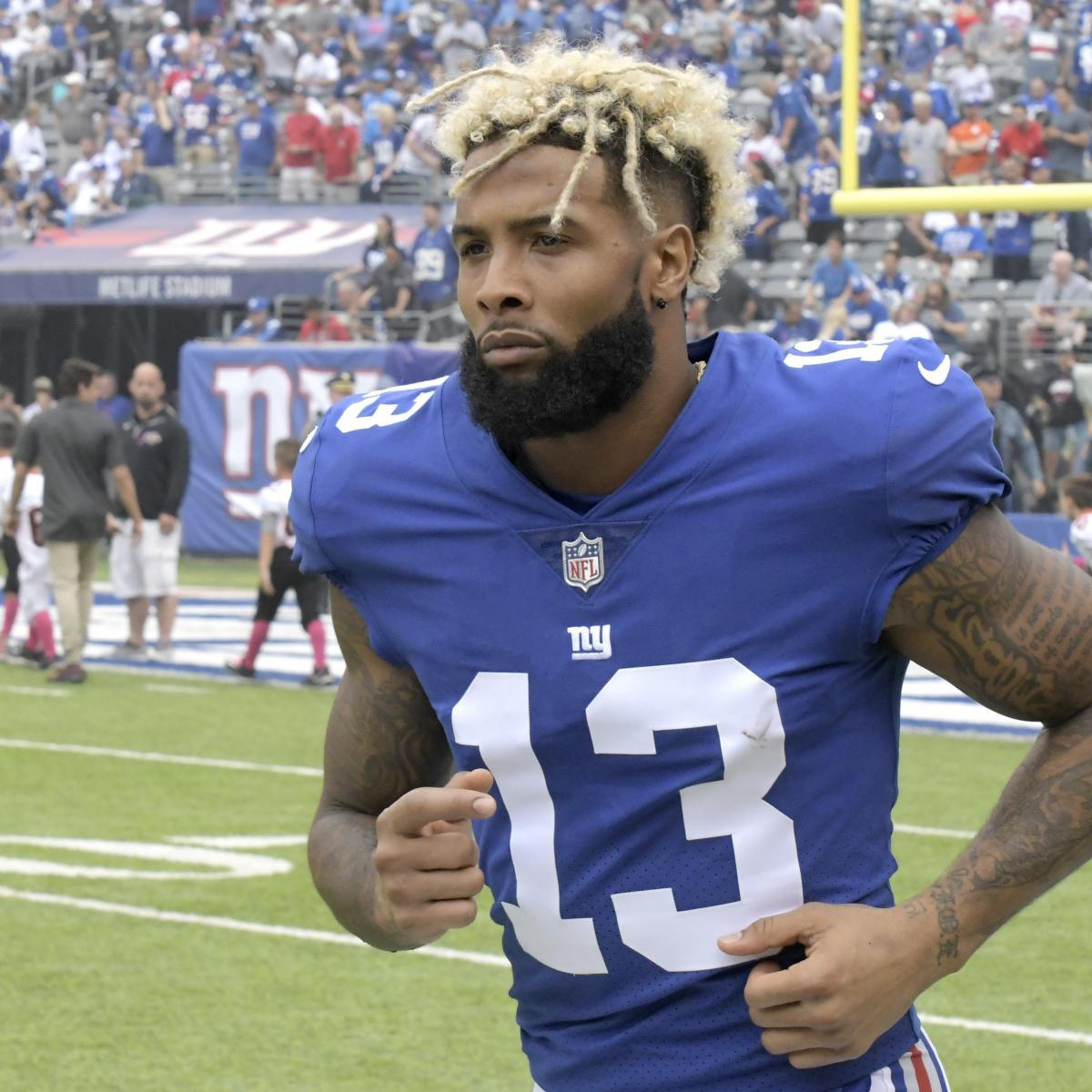 Odell Beckham Jr. of the New York Giants has been the subject of negative attention. (Courtesy of Twitter)