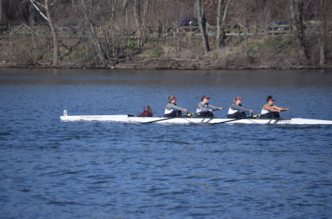 The Varsity 4+ finished sixth in their grand final appearance with a time of 9:08.04 (Andrea Garcia/The Fordham Ram).