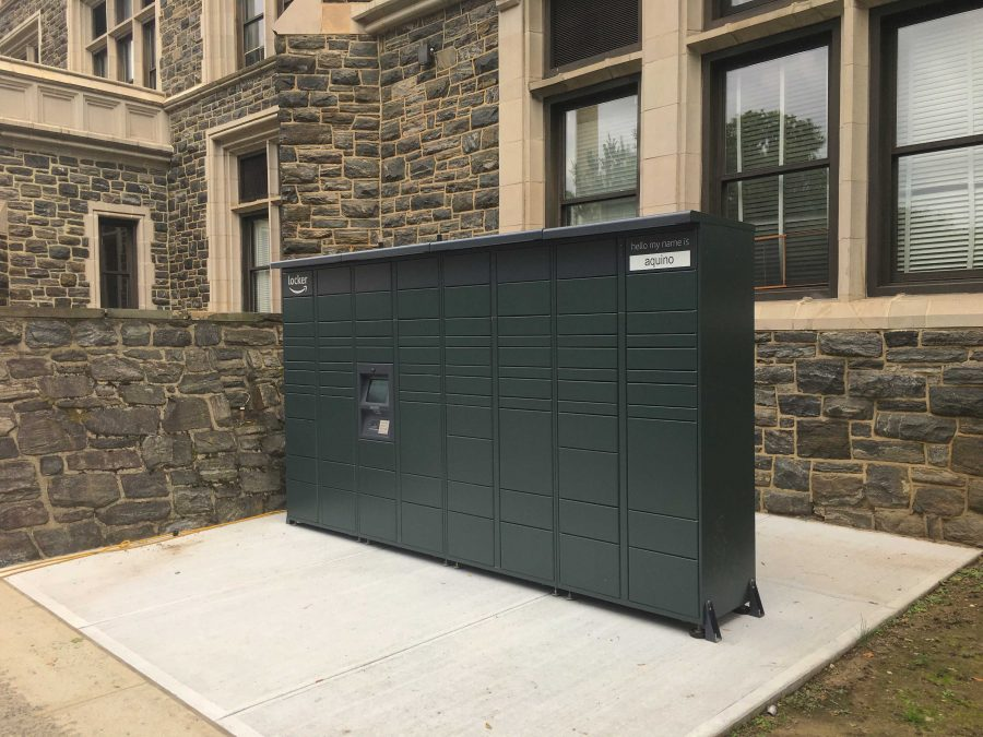 The+Aquino+Amazon+Locker%2C+located+outside+of+Finlay%2C+is+one+of+three+Locker+locations+across+campus.+%28Ryan+McGraw+for+The+Fordham+Ram%29