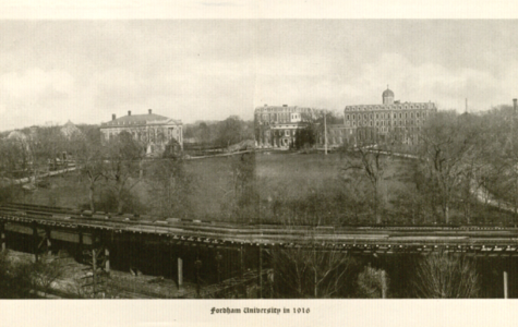 The Fordham community allegedly remained unfazed by the Bronx Park Extension that passed through the university. (Photo courtesy of Walsh Library Special Collection)