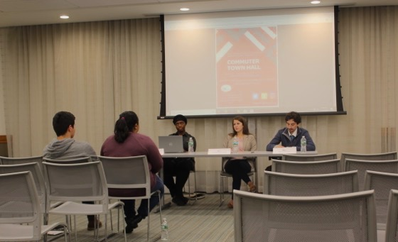 The senior board of the Communiting Student's Association hosted a town hall discussion in McGinley. (Joergen Ostensen/The Fordham)