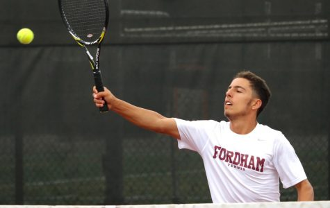 Fordham Men's Tennis and head coach Mike Sowter are looking forward to the 2019-20 season. (Julia Comerford/Fordham Ram)