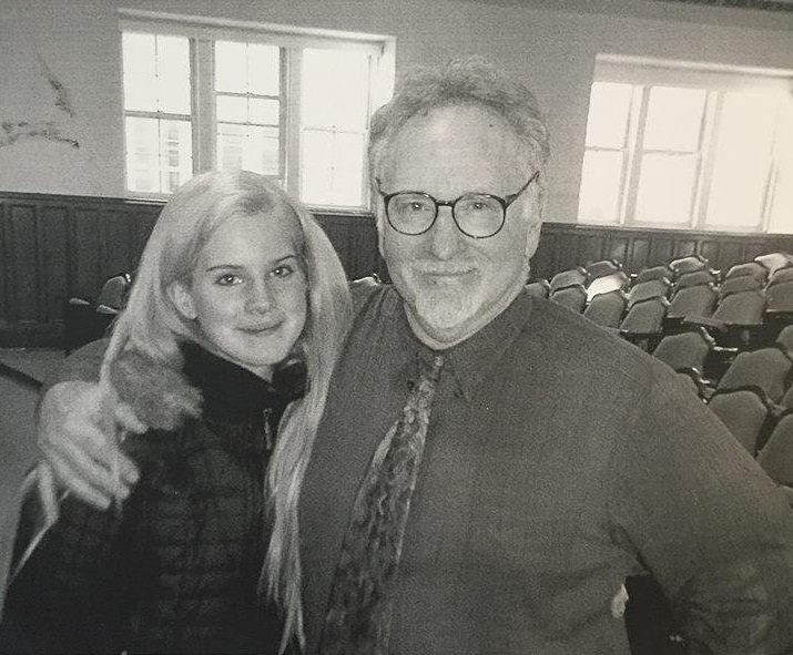 Dr. Mark Naison poses with Lizzy Grant, now know as Lana del Rey, during her time as a student in his Rock & Roll to Hip-Hop class (Courtesy of Mark Naison).