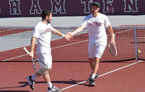 Fordham Men's Tennis continued its hot start to the spring season this past weekend. (Roderick Perez/The Fordham Ram)
