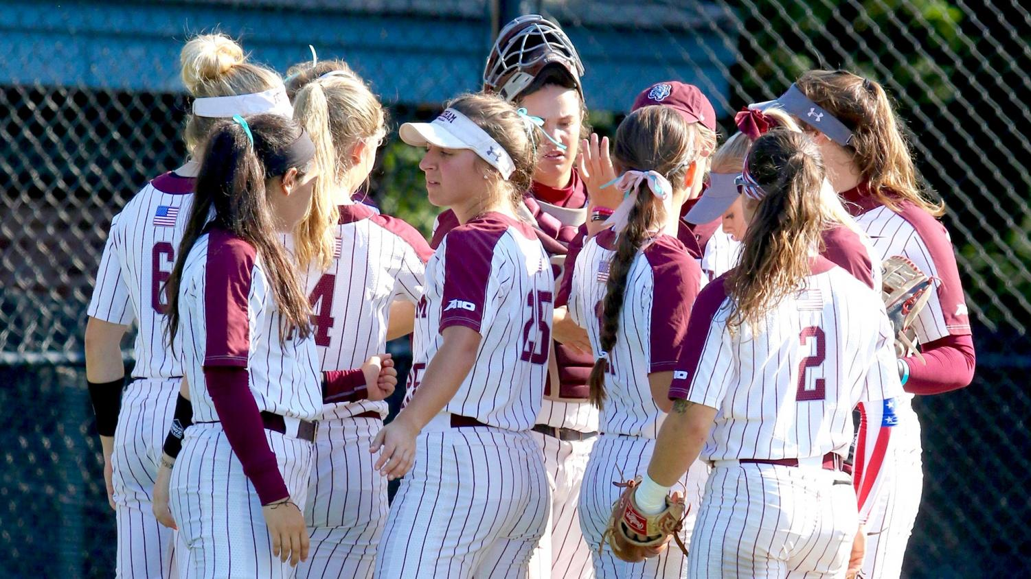 Molly Roark and Madie Auginbaugh were the stars of Fordham Softball's opening weekend. (Courtesy of Fordham Athletics)