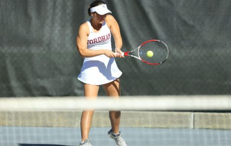 Fordham Women's Tennis lost a close match against NJIT last Friday. (Courtesy of Fordham Athletics)