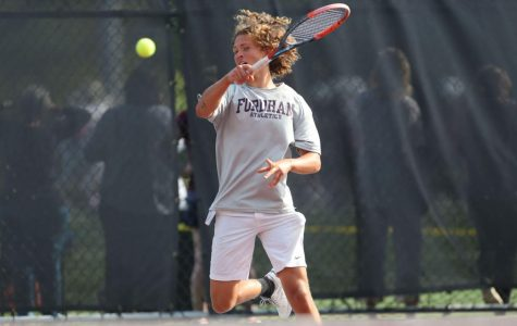After a win over Hofstra on Friday, the weekend quickly went south for Fordham Men's Tennis. (Courtesy of Fordham Athletics)
