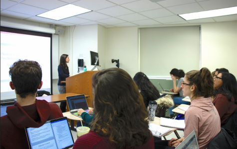 Students in a typical class at Fordham (Matt Massaro for The Fordham Ram)
