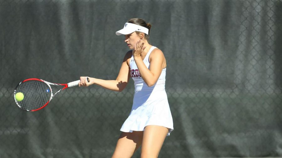 Sophomore+Arina+Taluyenko+had+a+good+weekend+as+Fordham+split+two+matches+with+Army+and+St.+Bonaventure.+%28Courtesy+of+Fordham+Athletics%29