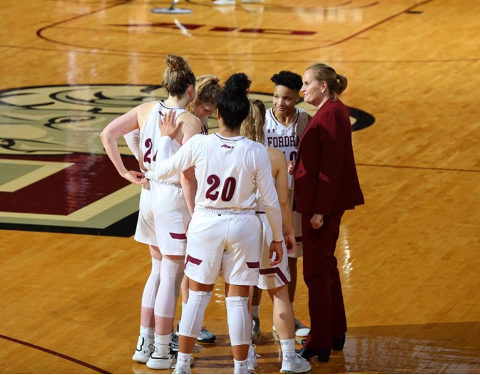 The Fordham women's basketball team has now won seven straight, including an impressive senior day victory over UMass. (Courtesy of Fordham Athletics)