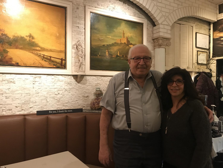 Owner Joe Migliucci at Mario's Restaurant with his daughter Regina Migliucci-Delfino (Eliot Schiaparelli for The Fordham Ram)