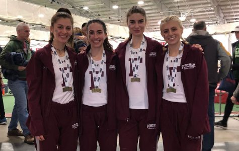 The Fordham Indoor Track season concluded this past weekend in Boston. (Courtesy of Fordham Athletics)