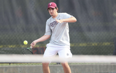 Men's Tennis now have almost two weeks off to recover after their close 4-3 match win over Boston University. (Courtesy of Fordham Athletics)