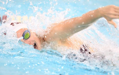Swimmer Tara Brunner and diver Molly Dunn represented Fordham nationally. (Courtesy of Fordham Athletics)