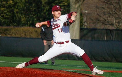 Fordham's struggles against Massachusetts Lowell came on the offensive side, as the Rams failed to score more than two runs in all three games. (Julia Comerford/The Fordham Ram)