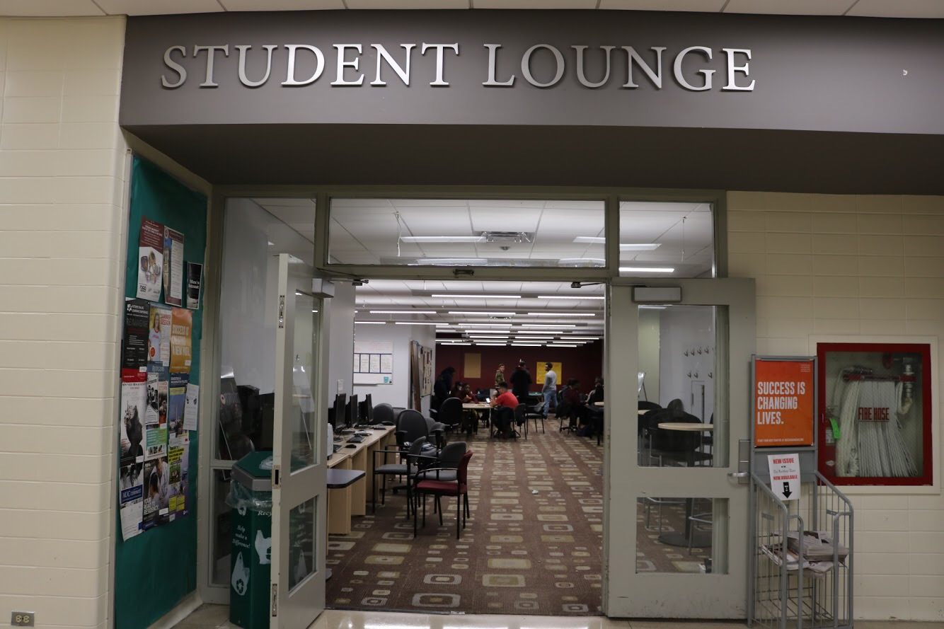 The commuter student lounge, which is now known as the student lounge is in the basement of McGinley. (Julia Comerford/ The Fordham Ram)