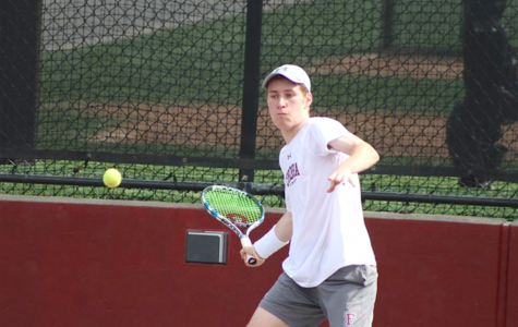 Fordham Men's Tennis Win One of Two in a Rainout Week