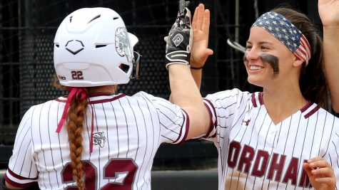 After losing this three-game series, the Rams only lead the Minutewomen by one game in the A-10 standings. (Courtesy of Fordham Athletics)