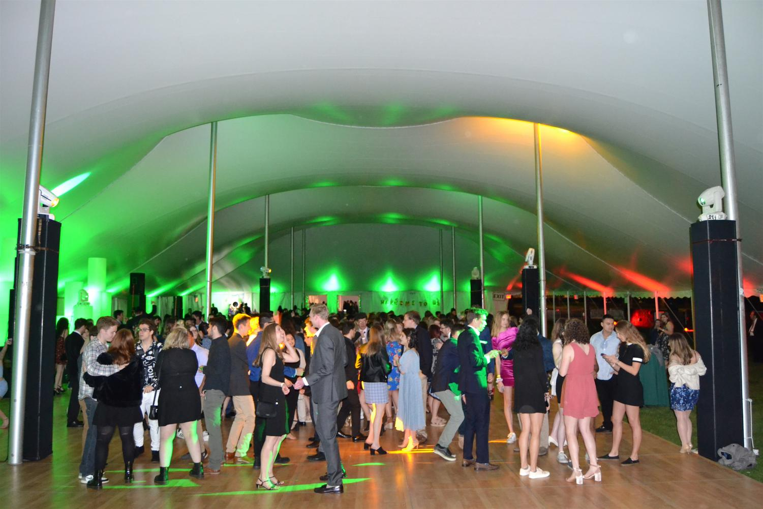 Under the Tent is RHA's annual Spring Weekend dance. This year's theme was a night in emerald city. (Photo Courtesy of Robert Ylagan and RHA)