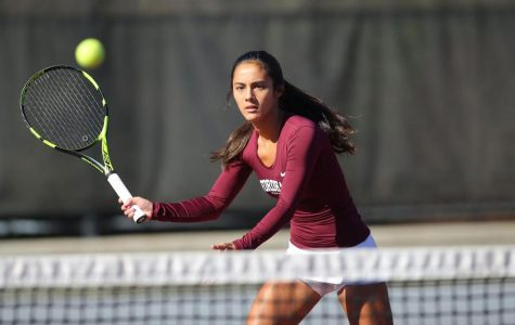 Women's Tennis' four-match winning streak came to an end with the loss to LIU-Brooklyn. (Courtesy of Fordham Athletics)