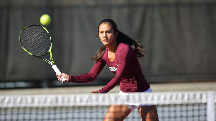 Women%E2%80%99s+Tennis%E2%80%99+four-match+winning+streak+came+to+an+end+with+the+loss+to+LIU-Brooklyn.+%28Courtesy+of+Fordham+Athletics%29