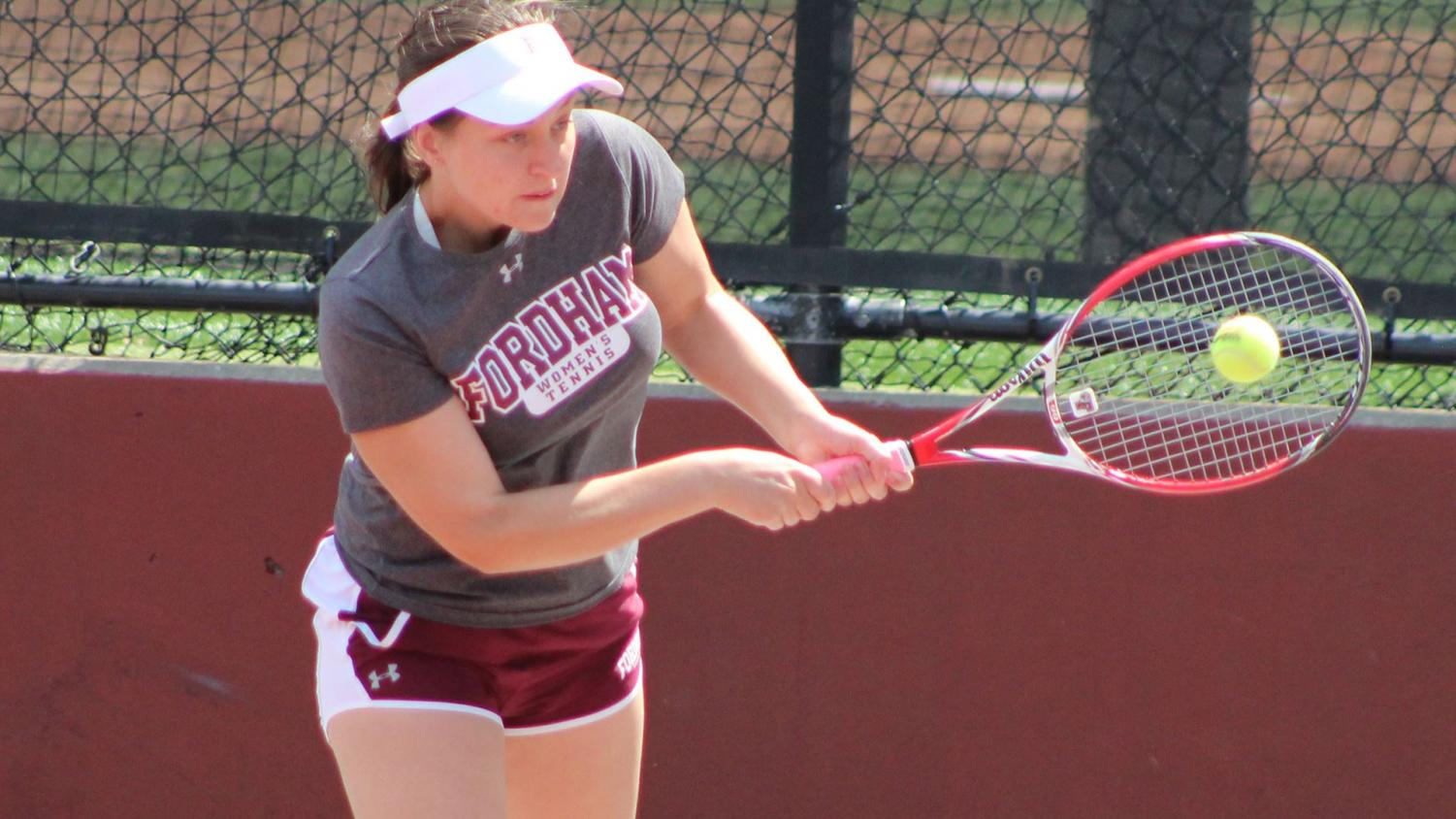 Women's Tennis  is stumbling into the Atlantic 10 Championship on Wednesday after losing two straight matches. (Courtesy of Fordham Athletics)