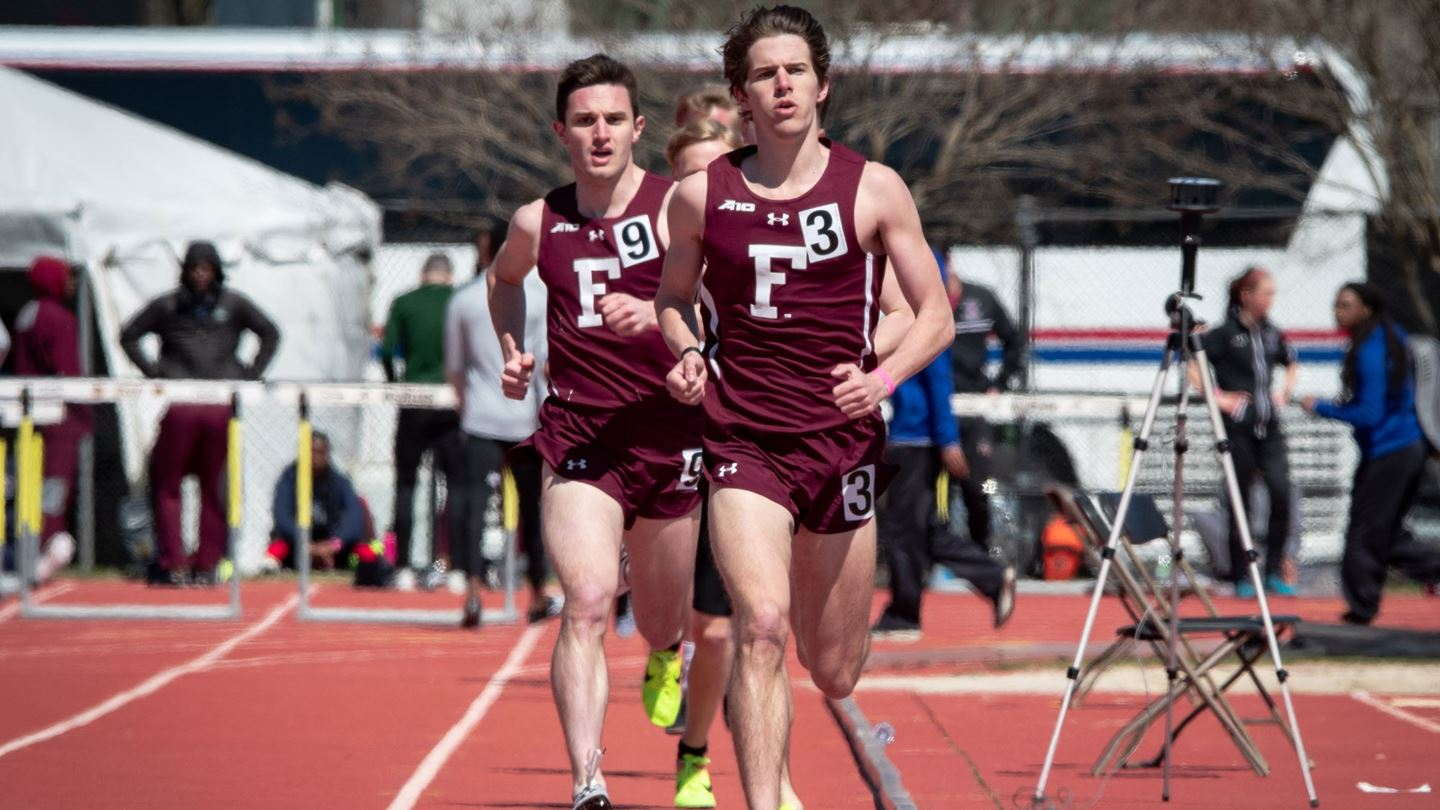 Brian Cook was one of the stars for Fordham Track and Field at the Metropolitan Relays. (Courtesy of Fordham Athletics)