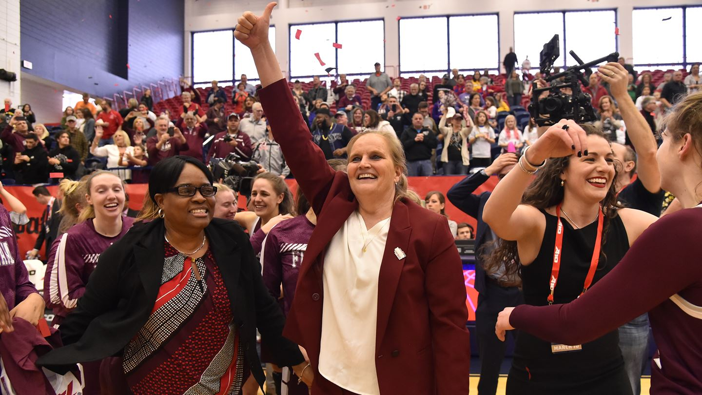 Fordham Women's Basketball head coach Stephanie Gaitley was just one of several BCANY award recipients. (Courtesy of Fordham Athletics)