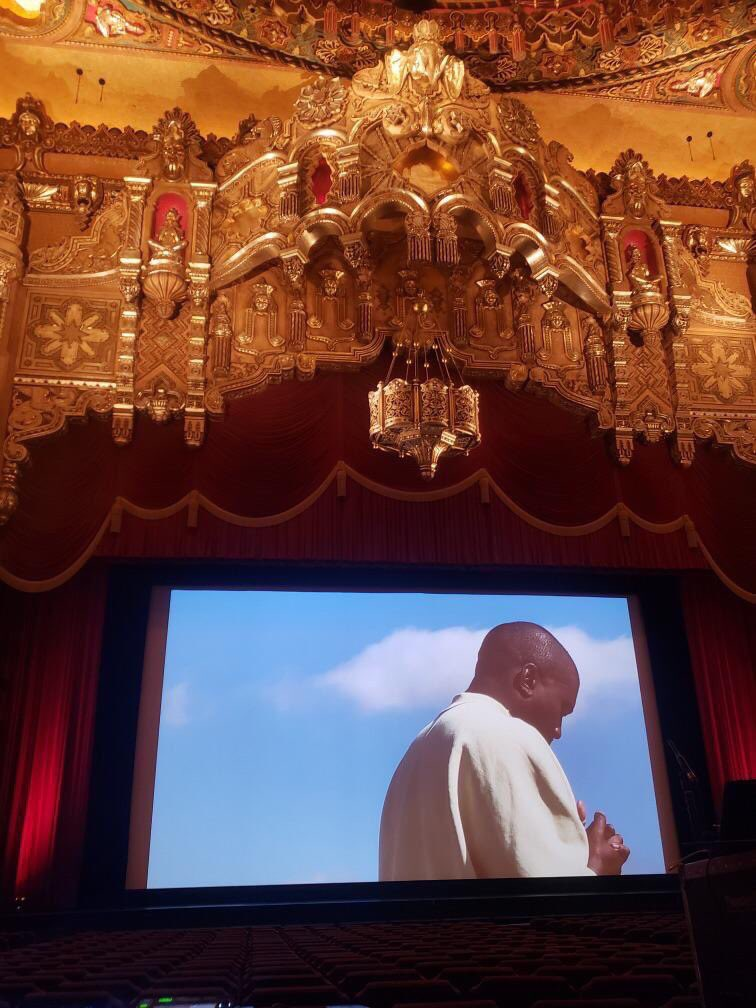 Kanye West hosted a listening session for his new album in NYC. (Courtesy of Twitter)