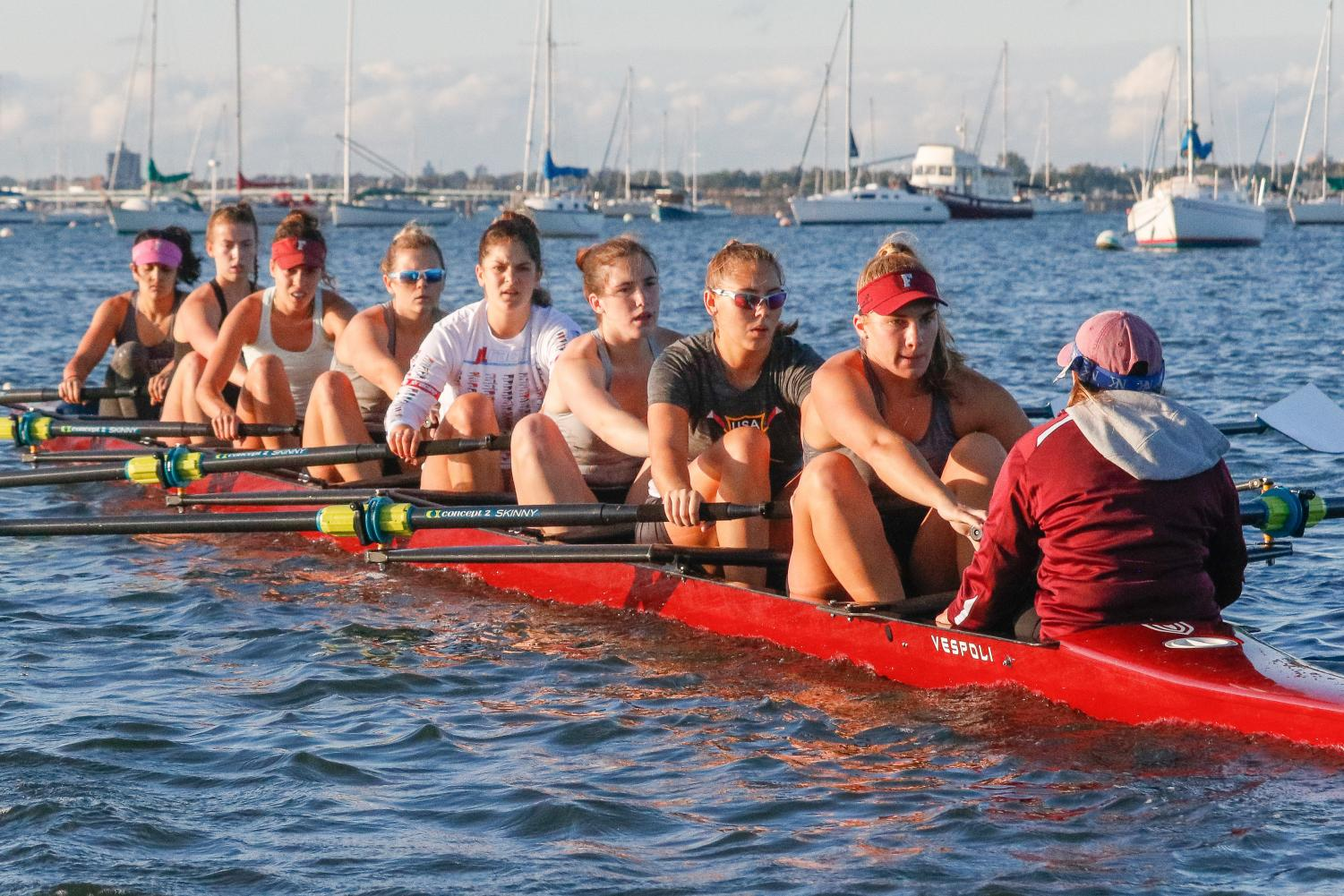 Fordham Rowing looks to improve off last year with a better 2019-2020 season. (Julia Comerford/The Fordham Ram)