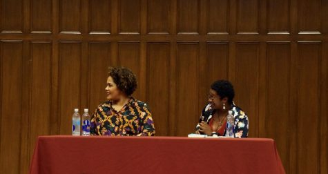 Ashley C. Ford and Ijeoma Oluo engaged in conversation about Oluo