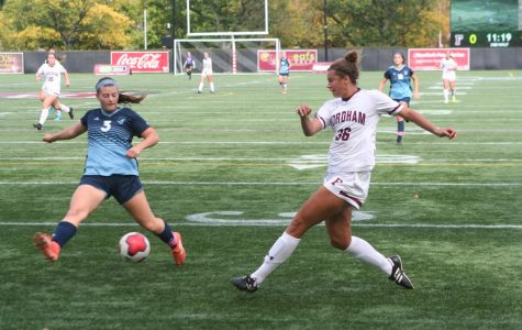 Women's Soccer avoided a disappointing result at home to Rhode Island. (Alex Wolz/The Fordham Ram)