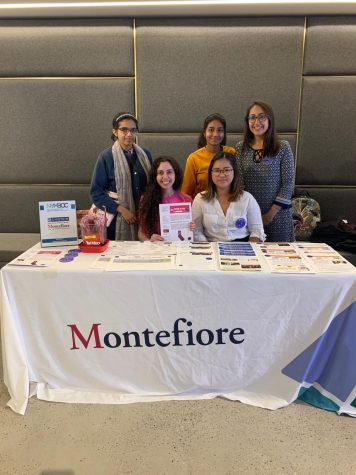 Bronx Oncology Living Daily tabling with students from Hunter College at The Susan G. Komen Metastatic Breast Cancer Conference.