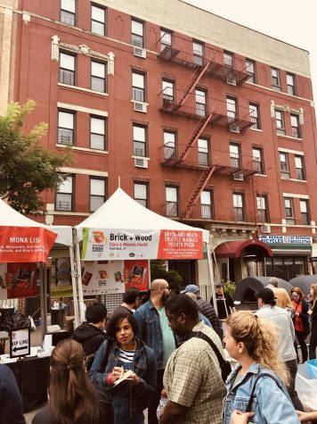 The New York Pizza Festival took place just blocks from Fordham.