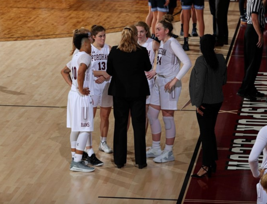 Fordham+Women%27s+Basketball+got+its+first+win+on+Wednesday+thanks+to+a+group+effort.+%28Courtesy+of+Fordham+Athletics%29