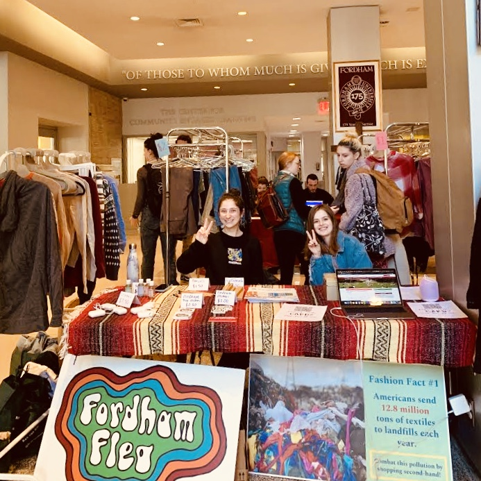 Fordham+Flea+is+usually+one+of+the+biggest+events+at+the+university+for+Earth+Week.+With+classes+moving+online%2C+sustainability+groups+had+to+make+alterations.+