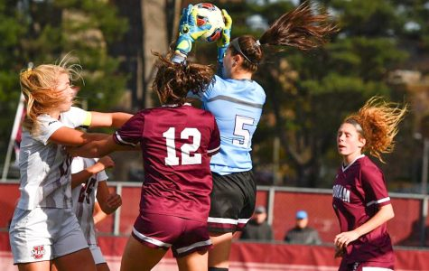 Fordham Women's Soccer suffered a blowout loss to UMass on Tuesday night to end its season with an elimination in the A-10 Tournament. (Courtesy of Fordham Athletics)
