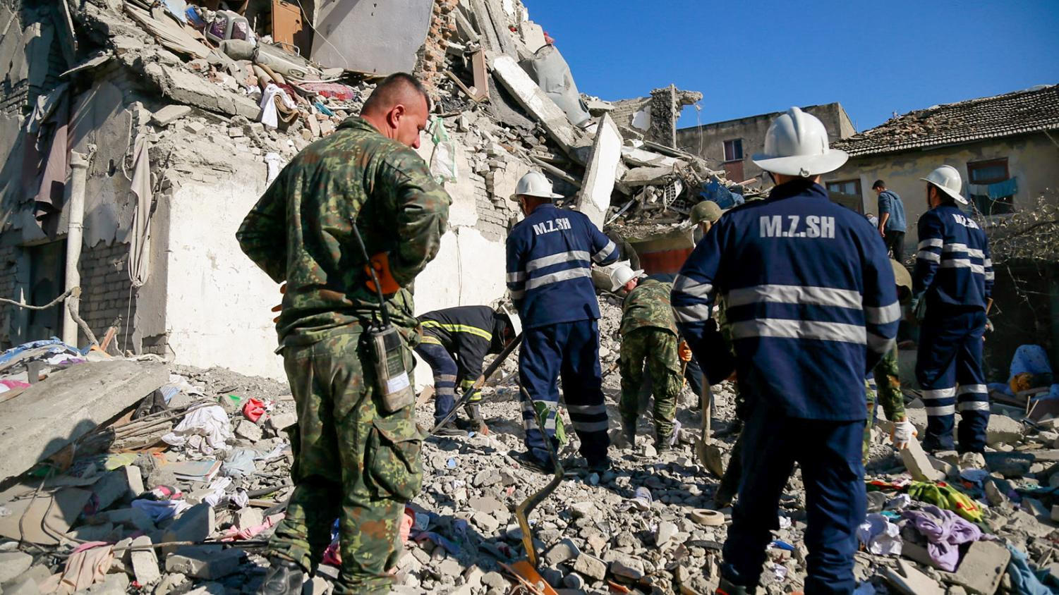 A 6.4 magnitude earthquake destroyed buildings in Albania on Nov. 26.